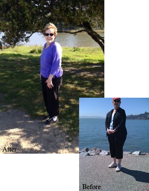 Before and After with Cindy Mackenzie Mobile Personal Trainer in Marin County California